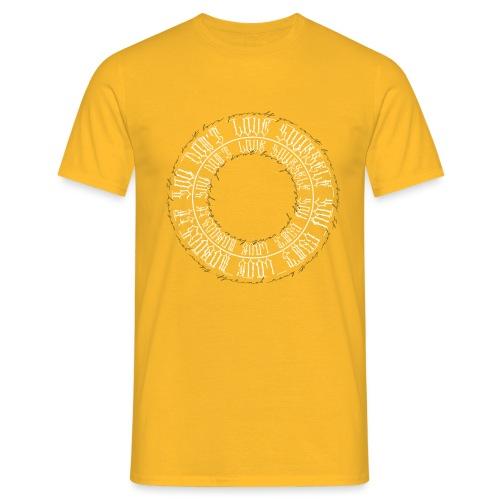 calligrafia black gold - Maglietta da uomo