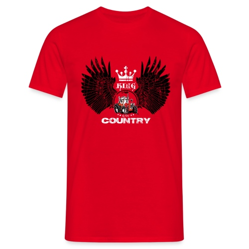 WINGS King of the country zwart wit op rood - Mannen T-shirt