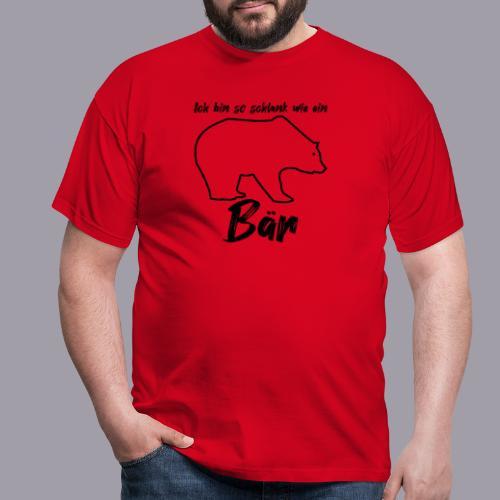 Ich bin so schlank wie ein Bär - Männer T-Shirt
