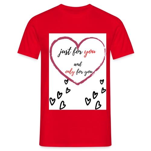 just for lovers design - Mannen T-shirt