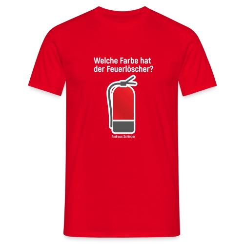 Feuerlöscher rot - Männer T-Shirt