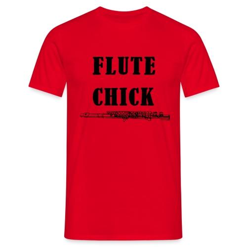 Flute Chick - T-skjorte for menn