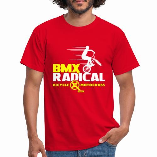 BMX Radical Bicycle Motocross Retro Bmx 1980's - Men's T-Shirt