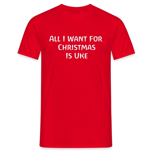 Christmas Uke White - Men's T-Shirt