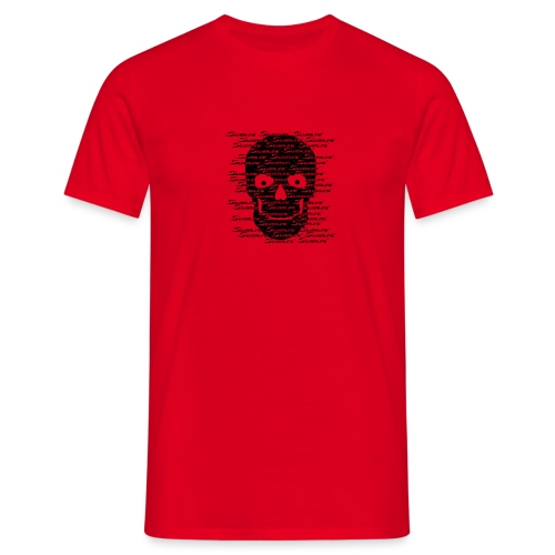 Silverline Skull Schwarz - Männer T-Shirt