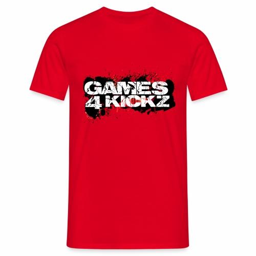 Games4Kickz Logo Splattered Background - Men's T-Shirt