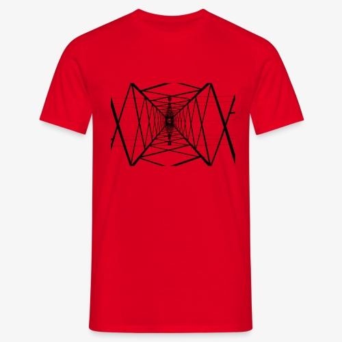 Quermast V2 Schwarz - Männer T-Shirt