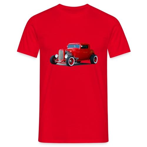 Hot rod red car - Mannen T-shirt