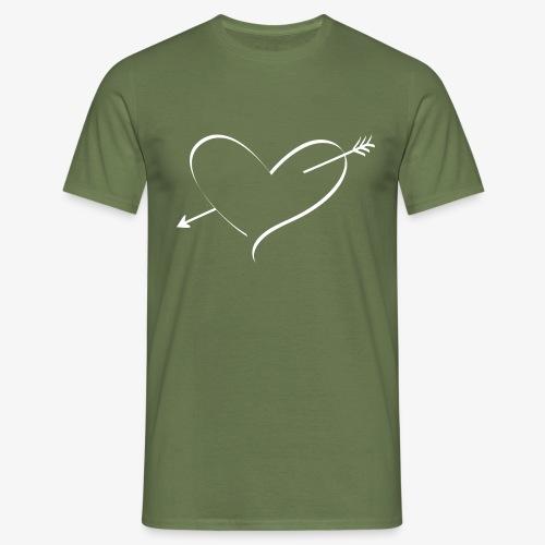 Heart White - Men's T-Shirt