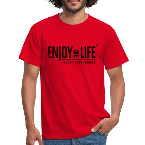 Enjoy this Life®-Classic Black Pascal Voggenhuber - Männer T-Shirt