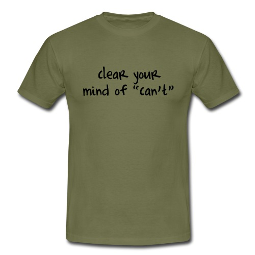 ''Clear your mind of Can't'' Motivational T-shirts - Maglietta da uomo