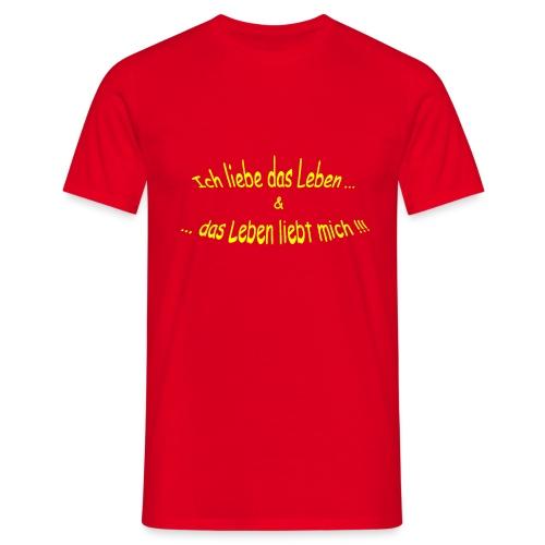 Ich-liebe-das-Leben-gelb - Männer T-Shirt