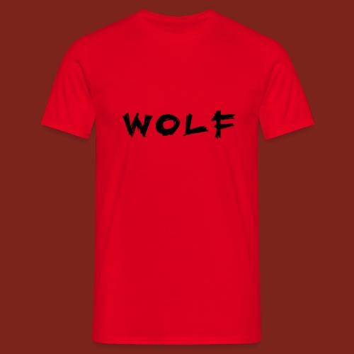 Wolf Font png - Mannen T-shirt