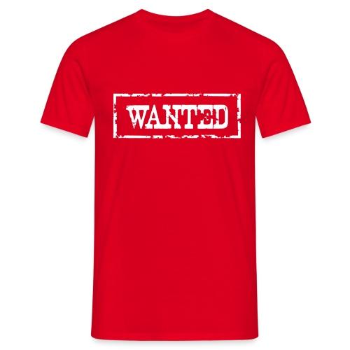 Wanted Frame Rand Rahmen Polizei Police - Männer T-Shirt