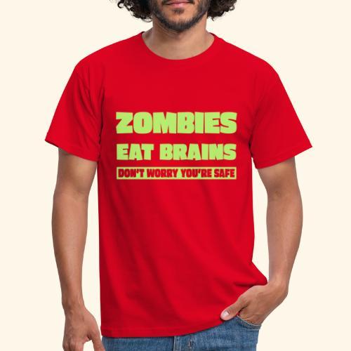 zombies eat brains - Men's T-Shirt