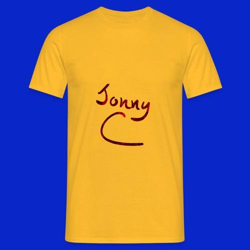 Jonny C Red Handwriting - Men's T-Shirt