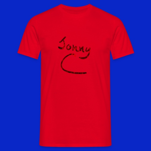 Jonny C Red Handwriting - Men's T-Shirt