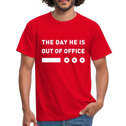 The Day He Is Out Of Office® Logo - Männer T-Shirt