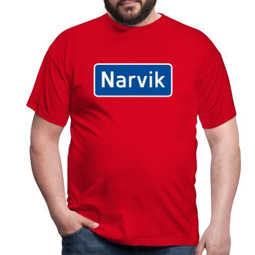 Narvik veiskilt, fra Det norske plagg - T-skjorte for menn