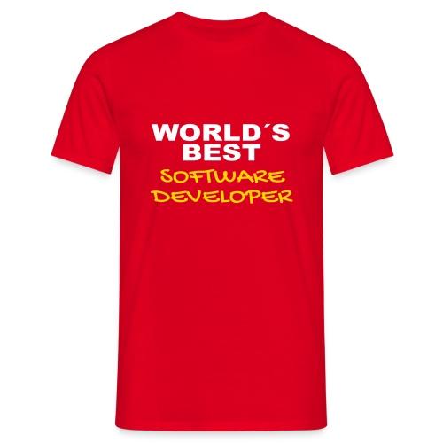 Worldsbest Software Developer Hell - Männer T-Shirt