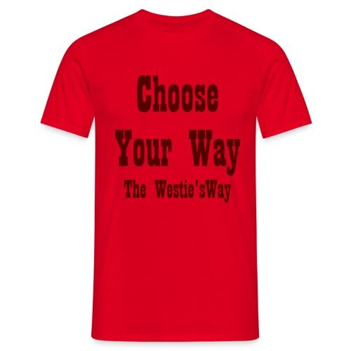 Choose Your Way Brown - Koszulka męska