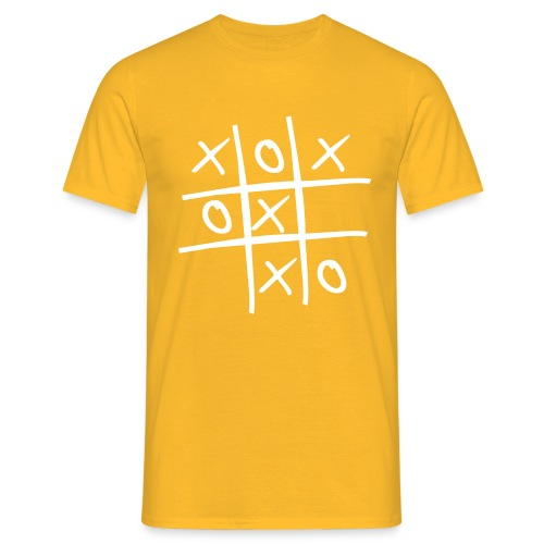 game boter kaas en eieren - Mannen T-shirt