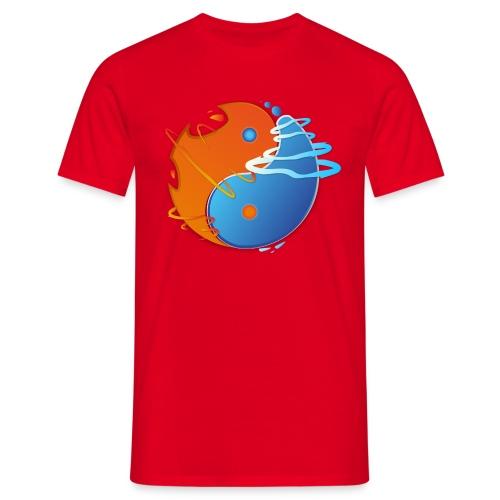 Ying-yang feu et glace - T-shirt Homme