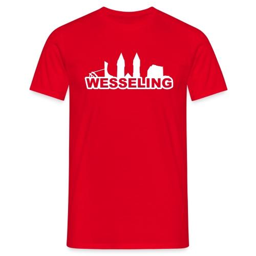 Wesselinger Skyline - Männer T-Shirt