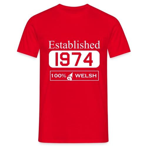 Established 1974 - Men's T-Shirt