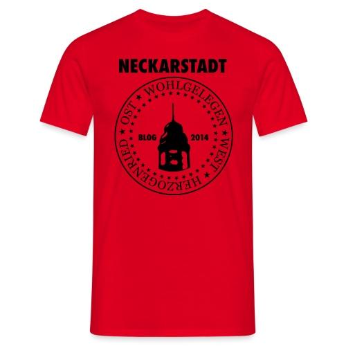 Neckarstadt Blog seit 2014 (Logo dunkel) - Männer T-Shirt