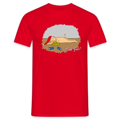 Cyniskt julmotiv - Nån öl för mycket - Vit - T-shirt herr