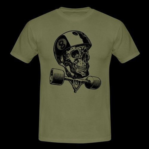 Skull Longboard Rider - positive print - T-shirt Homme