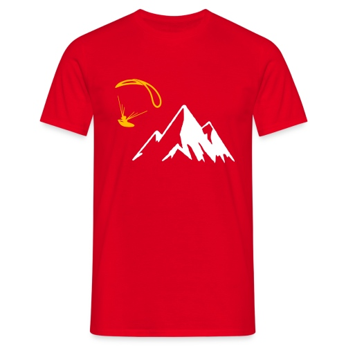 Libert'All parapente montagne jaune - T-shirt Homme
