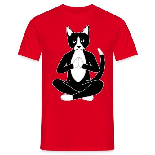 yoga cat png - Men's T-Shirt
