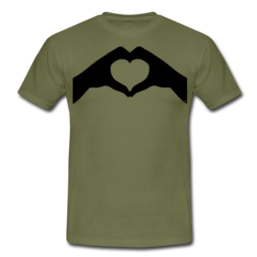 Heart hands - Herre-T-shirt