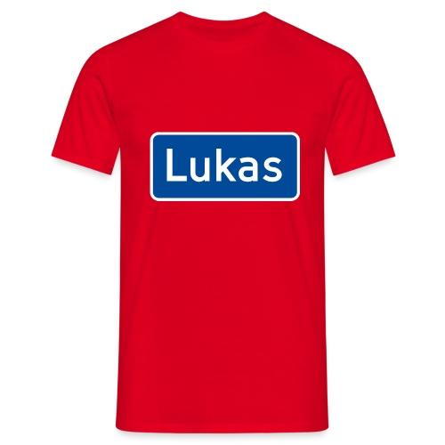 Lukas veiskilt (fra Det norske plagg) - T-skjorte for menn
