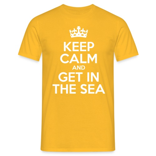 keep calm and get in the sea - Men's T-Shirt