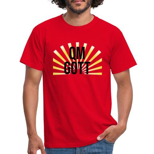 qm gott black - Männer T-Shirt