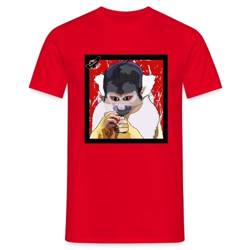 'Clever Monkey 2' by BlackenedMoonArts, w. logo - Herre-T-shirt