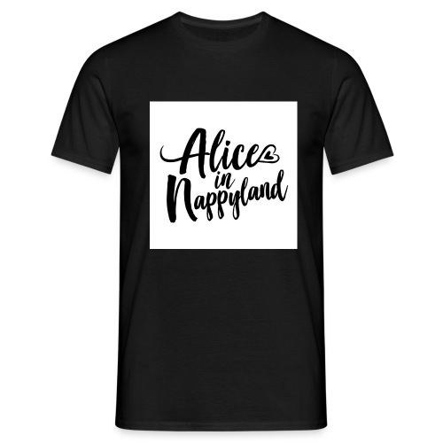 Alice in Nappyland Typography Black 1080 1 - Men's T-Shirt
