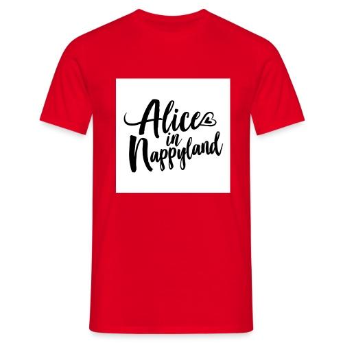 Alice in Nappyland Typography Black 1080 1 - Men's T-Shirt