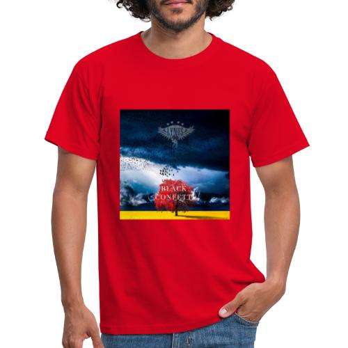 Black Confetti Promo Design - Men's T-Shirt