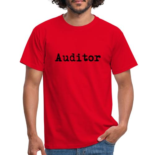 auditor typewriter black - Männer T-Shirt