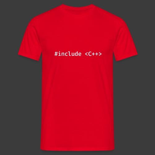 White Include Logo - Men's T-Shirt