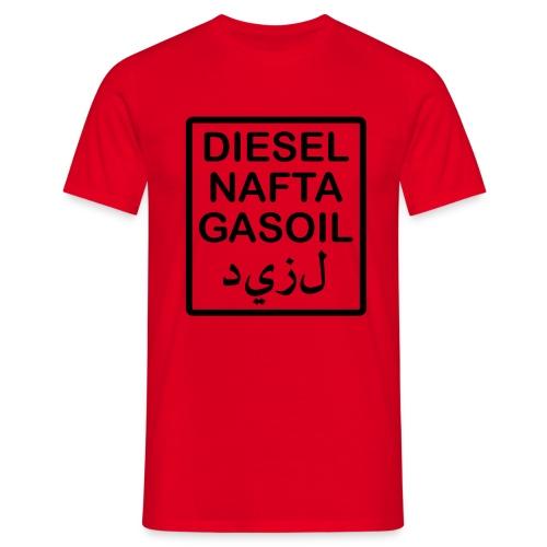 scritta serbatoio diesel PRONTO - Maglietta da uomo