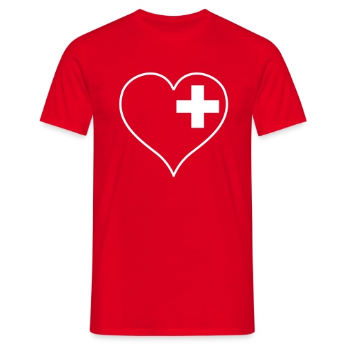 swiss heart white - Männer T-Shirt