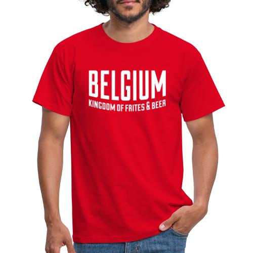 Belgium kingdom of frites & beer - T-shirt Homme
