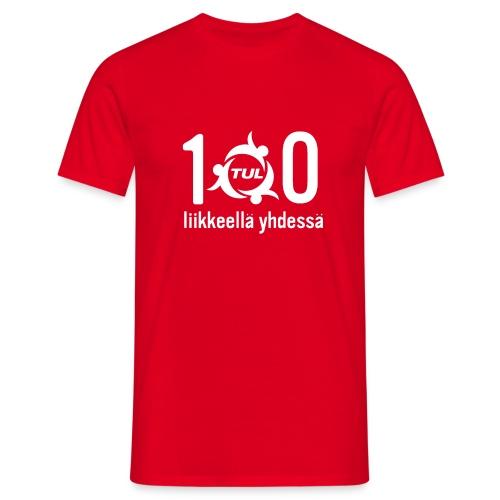 TUL100-tuotteet, valkoinen logopainatus - Miesten t-paita