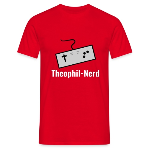 Retro Theophil-Nerd - Männer T-Shirt