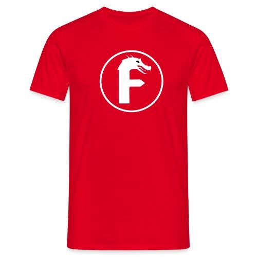 frontier dragon logo circle (white) - Men's T-Shirt